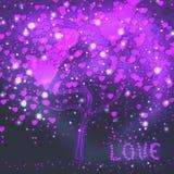 Árvore do amor Fotografia de Stock Royalty Free