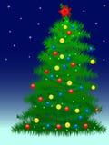 Árvore do ano novo Fotografia de Stock