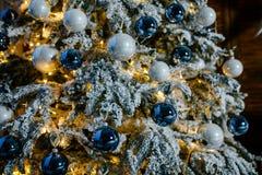 Árvore do ano novo com brinquedos Foto de Stock