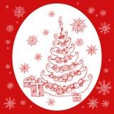 Árvore do ano novo do Natal Fotografia de Stock