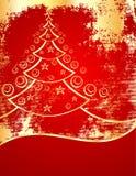 Árvore do ano novo do ouro Fotografia de Stock Royalty Free