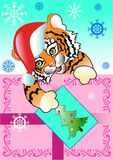 Árvore do ano novo do tigre ilustração do vetor
