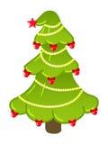 Árvore do ano novo no branco Fotos de Stock