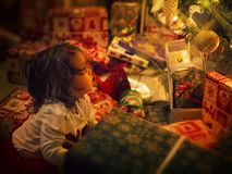 Árvore do bebê e de Natal Fotos de Stock Royalty Free