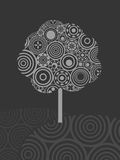Árvore do círculo ilustração stock