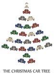 A árvore do carro do Natal Imagem de Stock Royalty Free