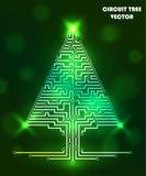 Árvore do circuito de computador Imagem de Stock