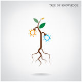 Árvore do conceito do conhecimento Sinal da educação e do negócio Imagem de Stock