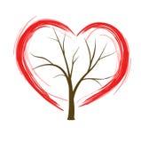 Árvore do coração Fotografia de Stock Royalty Free