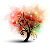 Árvore do coração Fotos de Stock Royalty Free