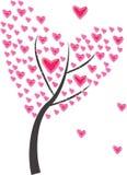 Árvore do coração do quadro Fotos de Stock Royalty Free