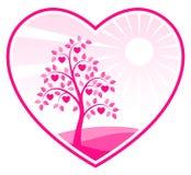 Árvore do coração no coração Fotografia de Stock