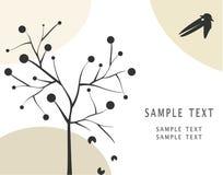 Árvore do corvo e de maçã ilustração stock