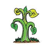 Árvore do desenho dos desenhos animados com cor Imagens de Stock Royalty Free