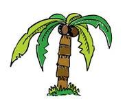 Árvore do desenho dos desenhos animados com cor Fotografia de Stock Royalty Free