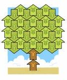 Árvore do dinheiro dos ienes Fotos de Stock Royalty Free