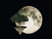 Árvore do espaço ilustração royalty free