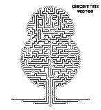 Árvore do esquema do circuito de computador Imagem de Stock Royalty Free