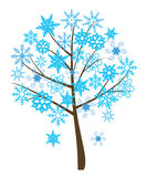 Árvore do floco de neve ilustração do vetor