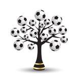 Árvore do futebol Fotografia de Stock