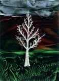 Árvore do gelo na noite Fotografia de Stock