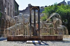 Árvore do holocausto do memorial da vida - Budapest fotografia de stock royalty free