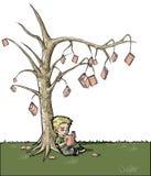 Árvore do livro ilustração royalty free