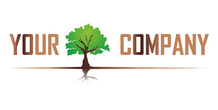Árvore do logotipo Foto de Stock Royalty Free