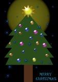 Árvore do X-mas Fotografia de Stock