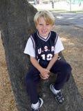 Árvore do menino Imagens de Stock Royalty Free