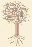 Árvore do metro Imagem de Stock Royalty Free