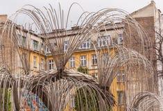 A árvore do monumento da vida às vítimas do holocausto foi aberta em 1990 em Budapest, Hungria Foto de Stock Royalty Free