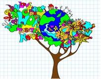 Árvore do mundo Imagens de Stock Royalty Free