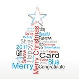 Árvore do Natal ou do ano novo Imagens de Stock Royalty Free