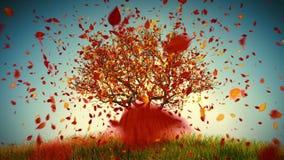Árvore do outono defoliation ilustração royalty free
