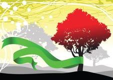 Árvore do outono do vetor Fotos de Stock Royalty Free