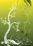 Árvore do outono que cresce acima ilustração royalty free