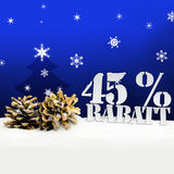 Árvore do pinecone do Natal disconto de um Rabatt de 45 por cento Fotografia de Stock