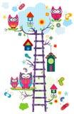 Árvore do ` s da coruja Imagem de Stock Royalty Free
