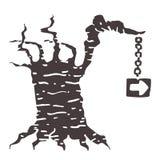 Árvore do sinal Fotos de Stock