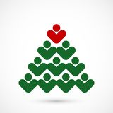 Árvore do social do Natal Imagens de Stock