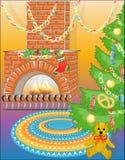 Árvore do urso & do ano novo com doces Imagem de Stock