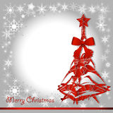 Árvore do vermelho do Natal Fotos de Stock Royalty Free
