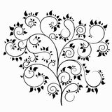 Árvore do vetor curvada ilustração stock