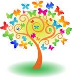 Árvore do vetor da borboleta Fotos de Stock