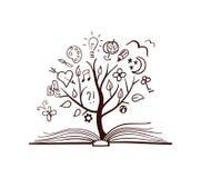 Árvore do vetor de conhecimento Imagem de Stock