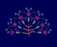 Árvore do vetor do amor com flores abstratas Foto de Stock