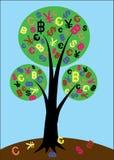 Árvore do vetor do dinheiro ilustração stock