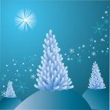Árvore do White Christmas Imagens de Stock