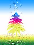 Árvore do Xmas Imagens de Stock Royalty Free